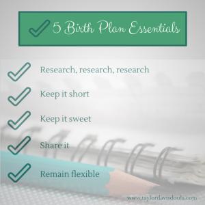 5 Birth Plan Essentials (1)