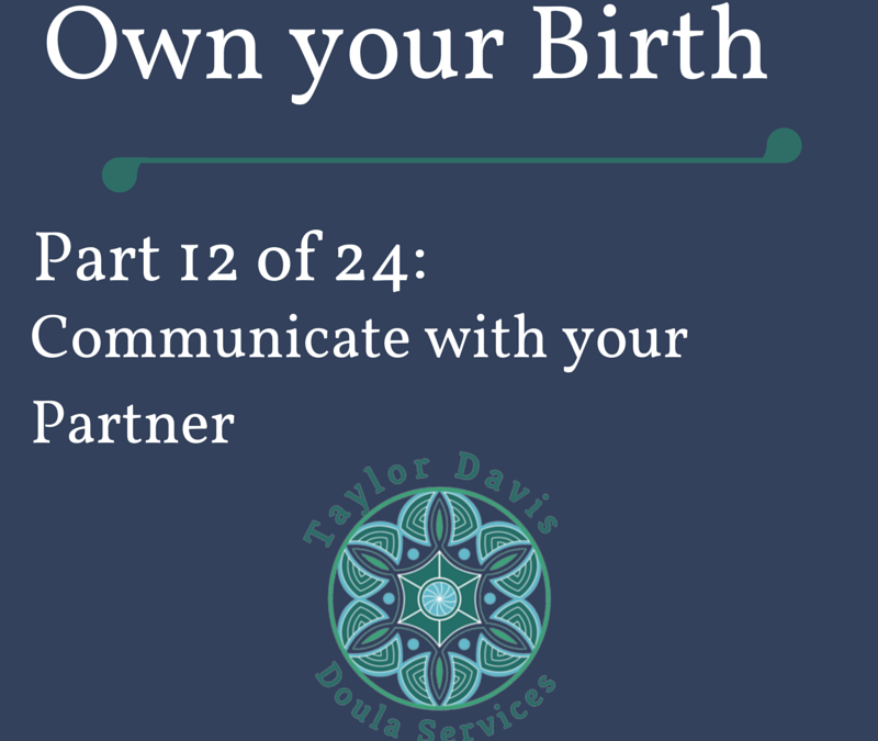 Tips for communicating with your birth partner